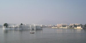 Lake Palace in the distance, Udaipur
