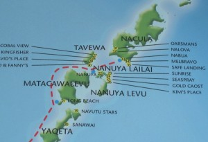 Fiji map of Yasawas