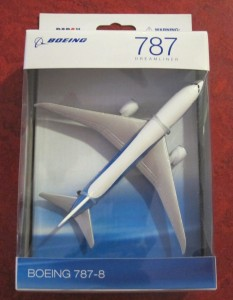 Travel survey prize - Boeing 787-8 replica