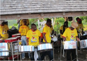 Steel drum band - Shirley Heights, Antigua