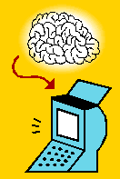 Brain into computer image courtesy Microsoft