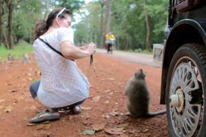 The Monkey and I - Angkor Thom
