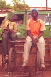 Bamako, Mali - Guy Sleeping on Cart