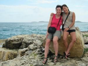 Sara and me at Devil's Bridge, Antigua