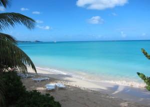 Our beach at Runaway Bay, Antigua