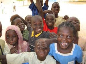 Cameroonian kids hamming it up