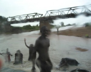 Flooded Roadway, Far North, Cameroon