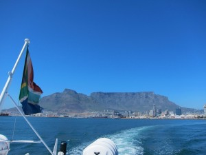 Cape Town from the boat